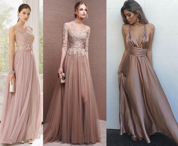 c419207ec05747 Модний хіт вечірньої моди-2018 - сукні в тон шкірі. Навіть в цнотливого  фасон, сукня ніжного кремового кольору буде виглядати дуже спокусливо.
