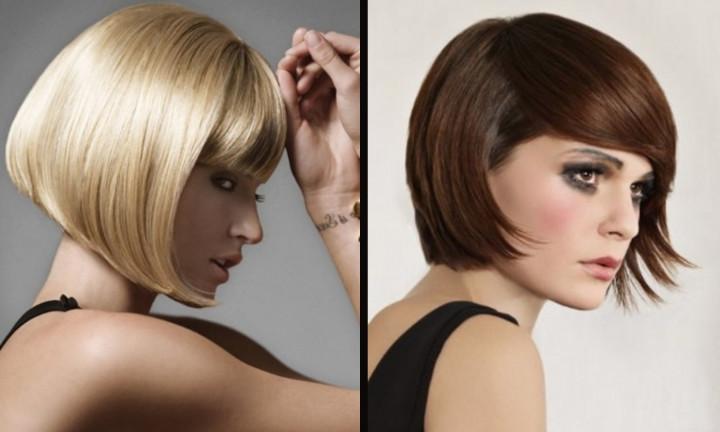 Modne Fryzury Dla średnich Włosów Stopniowana Talia Dla